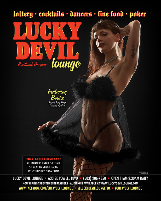 LUCKY DEVIL DANCER SCHEDULE • TUE, APR 2ND - MON, APR 8TH • 2019