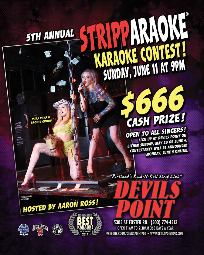 DEVILS POINT DANCER SCHEDULE • TUE, MAY 30TH - MON, JUN 5TH • 2017