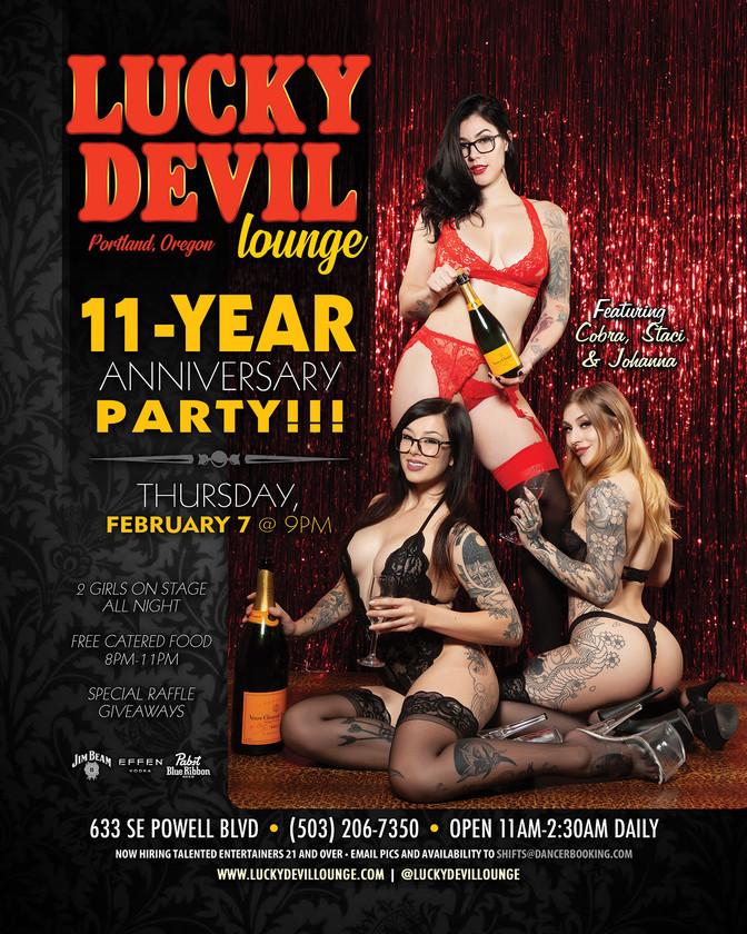 LUCKY DEVIL DANCER SCHEDULE • TUE, JAN 29TH - MON, FEB 4TH • 2019
