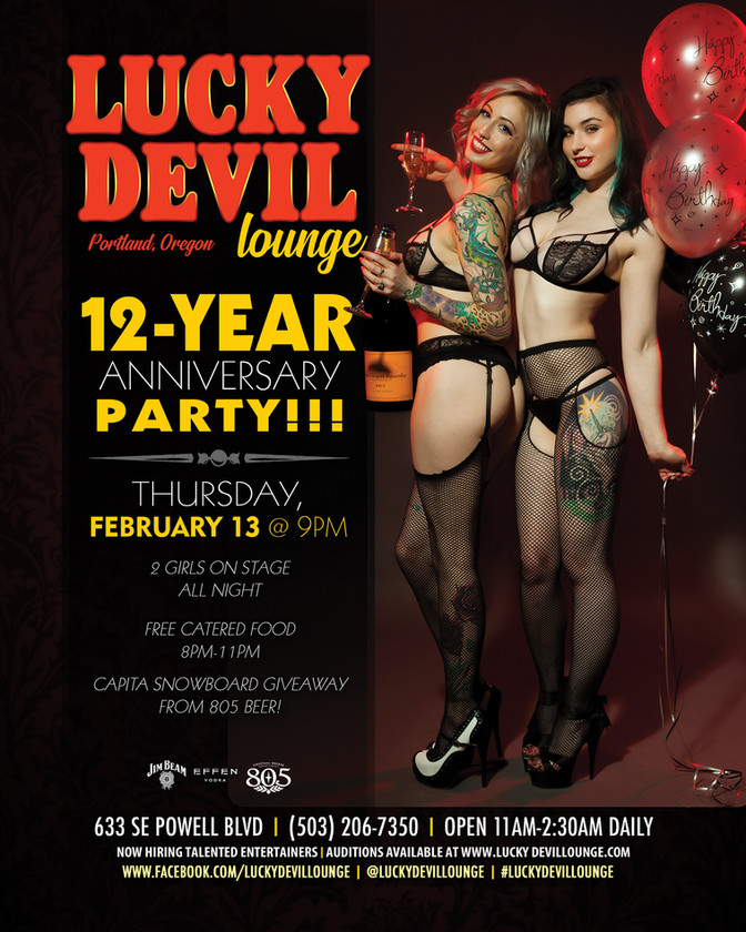 LUCKY DEVIL DANCER SCHEDULE • TUE, JAN 28TH - MON, FEB 3RD • 2020