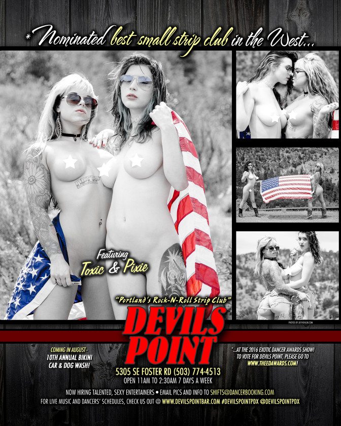 DEVILS POINT DANCER SCHEDULE • TUE, JUL 5TH - MON, JUL 11TH • 2016