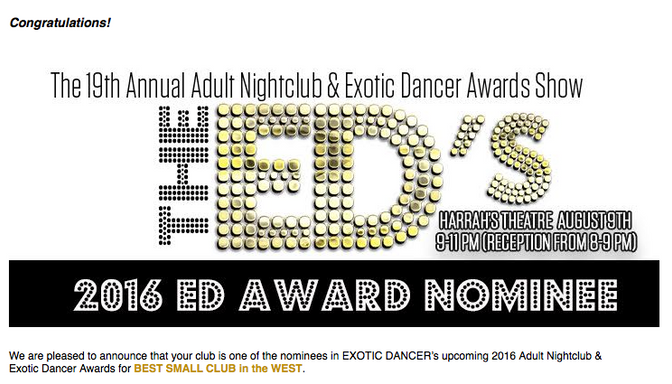 2016 EXOTIC DANCER AWARD NOMINEE