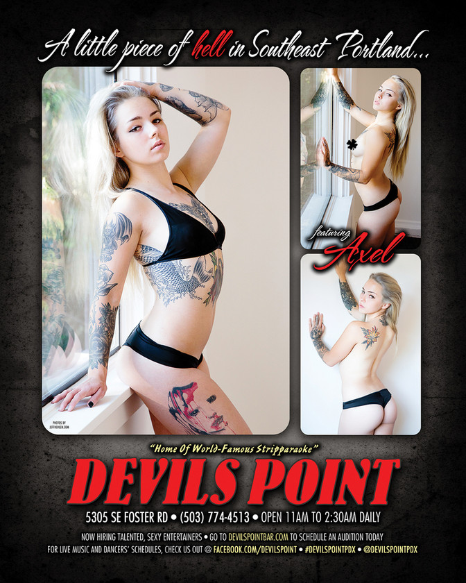 DEVILS POINT DANCER SCHEDULE • TUE, FEB 28TH - MON, MAR 6TH • 2017