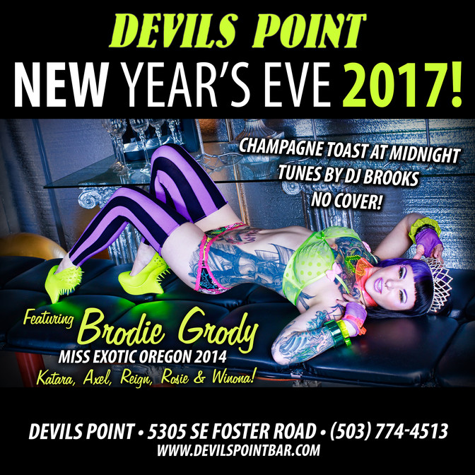 CELEBRATE NYE 2017 AT DEVILS POINT!