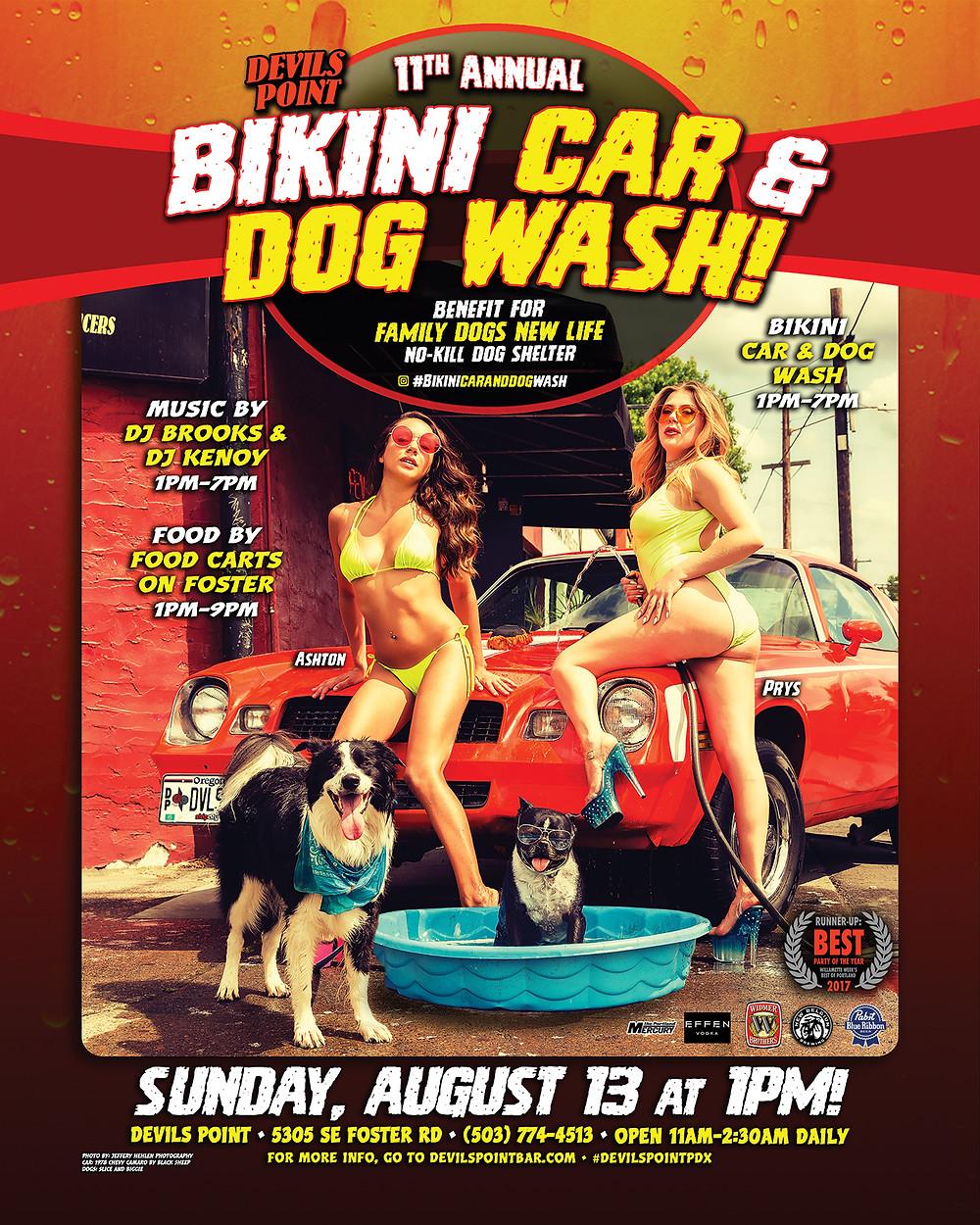 11th Annual Bikini Car & Dog Wash Sunday, August 13th!