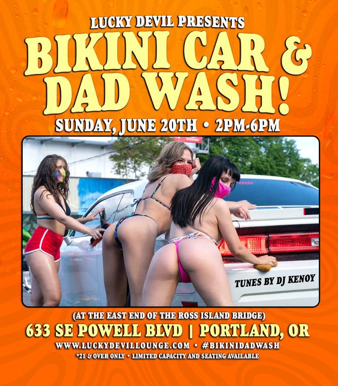 BIKINI CAR & DAD WASH!
