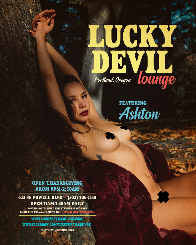 LUCKY DEVIL DANCER SCHEDULE • TUE, OCT 30TH - MON, NOV 5TH • 2018
