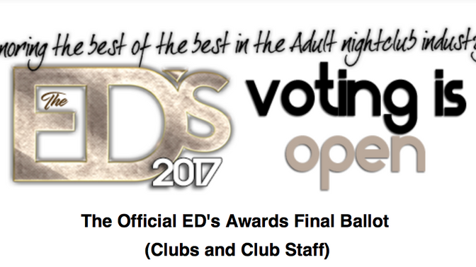 WE'VE BEEN NOMINATED FOR THE 2017 EXOTIC DANCER AWARDS SHOW!