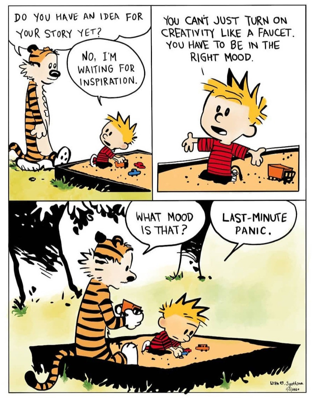 Calvin & Hobbes procrastination