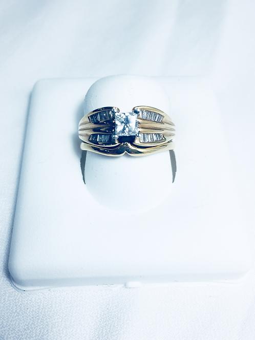 Genuine diamond Wedding set.
