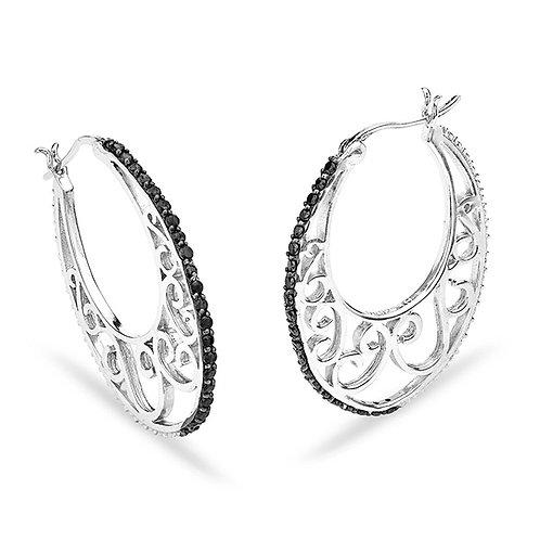 Sterling Black CZ Earrings