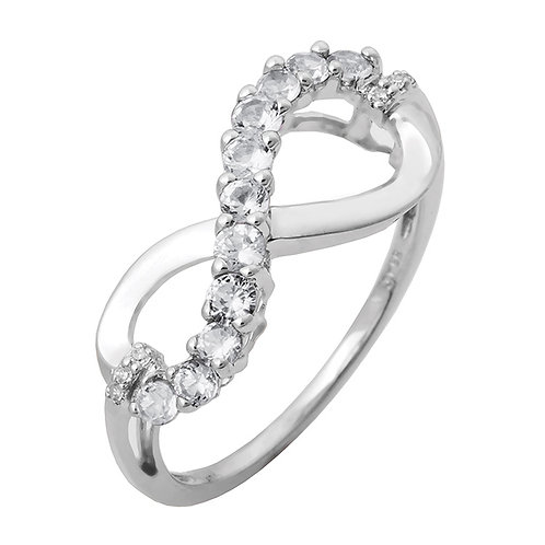 Sterling White CZ Eternity Ring