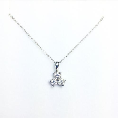 Genuine white diamond pendant.