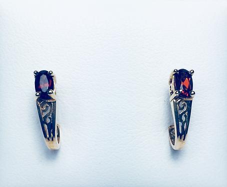 Genuine garnet earrings.
