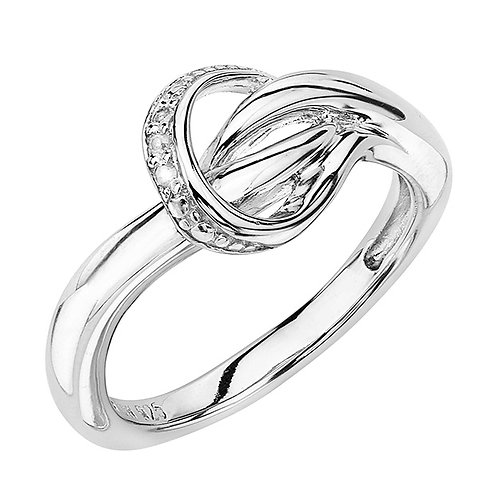 Sterling White Diamond Ring