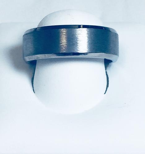 Polished and Brushed Titanium Band