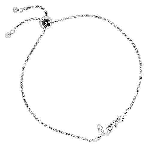 "Sterling Lariat ""Love"" Bracelet"