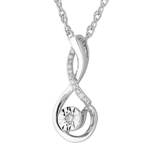 Sterling Necklace with Diamond Accent2