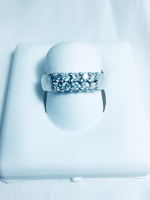 Genuine diamond Anniversary ring.