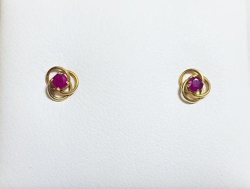 Genuine ruby earrings