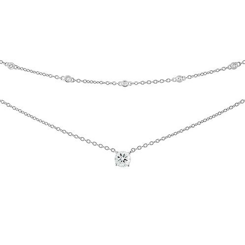 Sterling White CZ 2-Strand Necklace