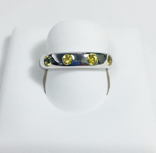Genuine yellow sapphire ring.