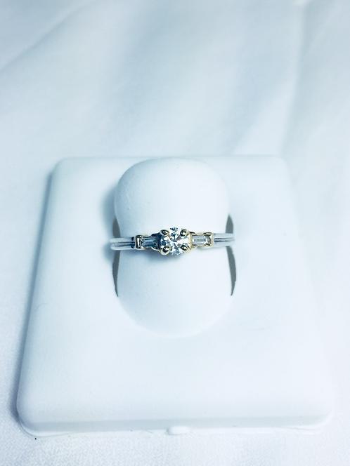 Genuine diamond 3-stone ring.