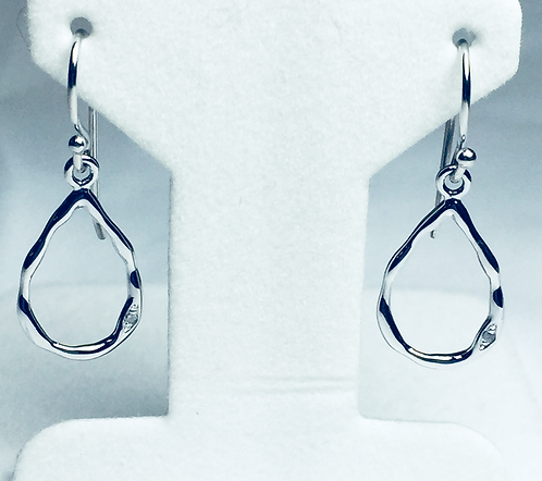 Sterling Teardrop Earrings with Diamond Accent