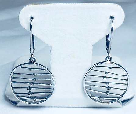 Sterling Dreamcatcher Earrings with Diamond Accent