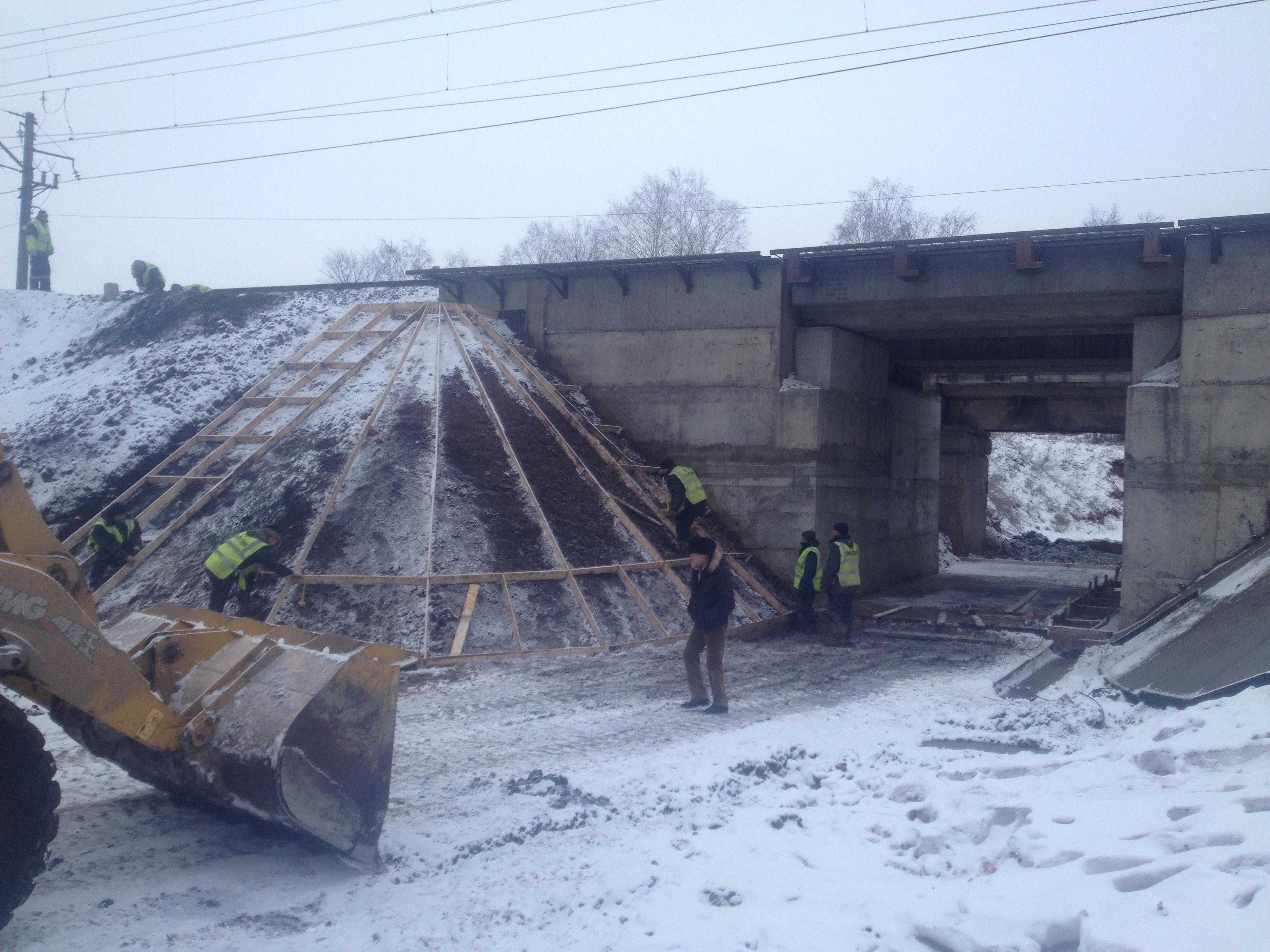 Капитальный ремонт моста на 1412 км