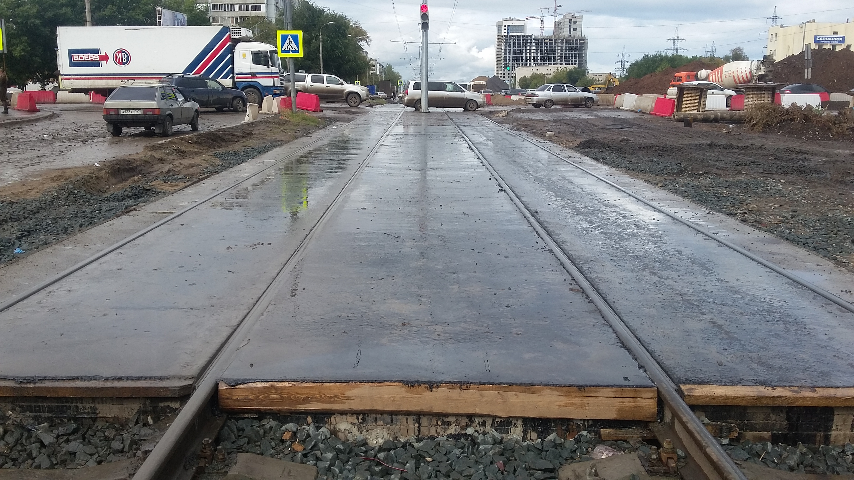 Переустройство трамвайных путей