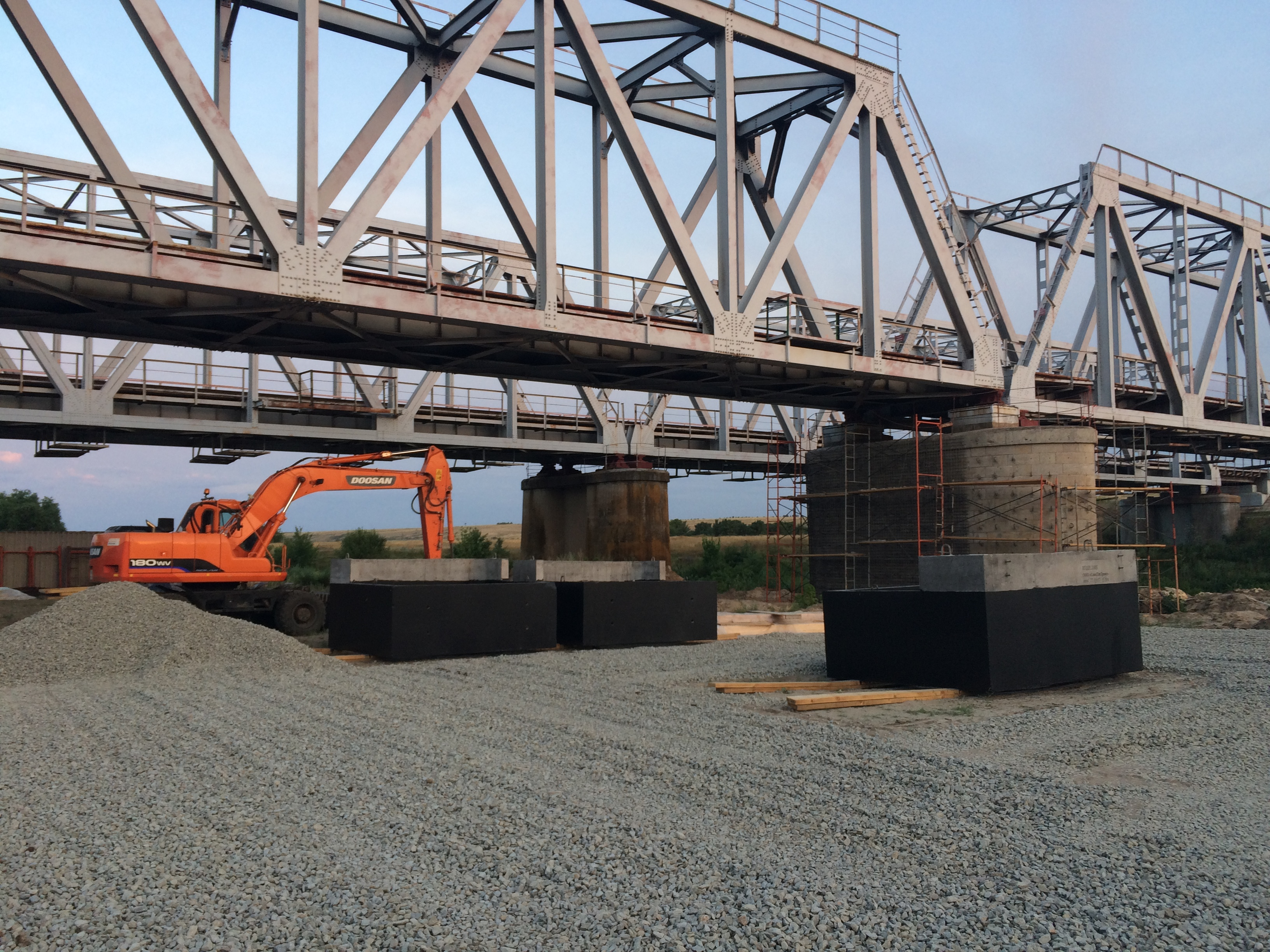 Капитальный ремонт моста на 200 км