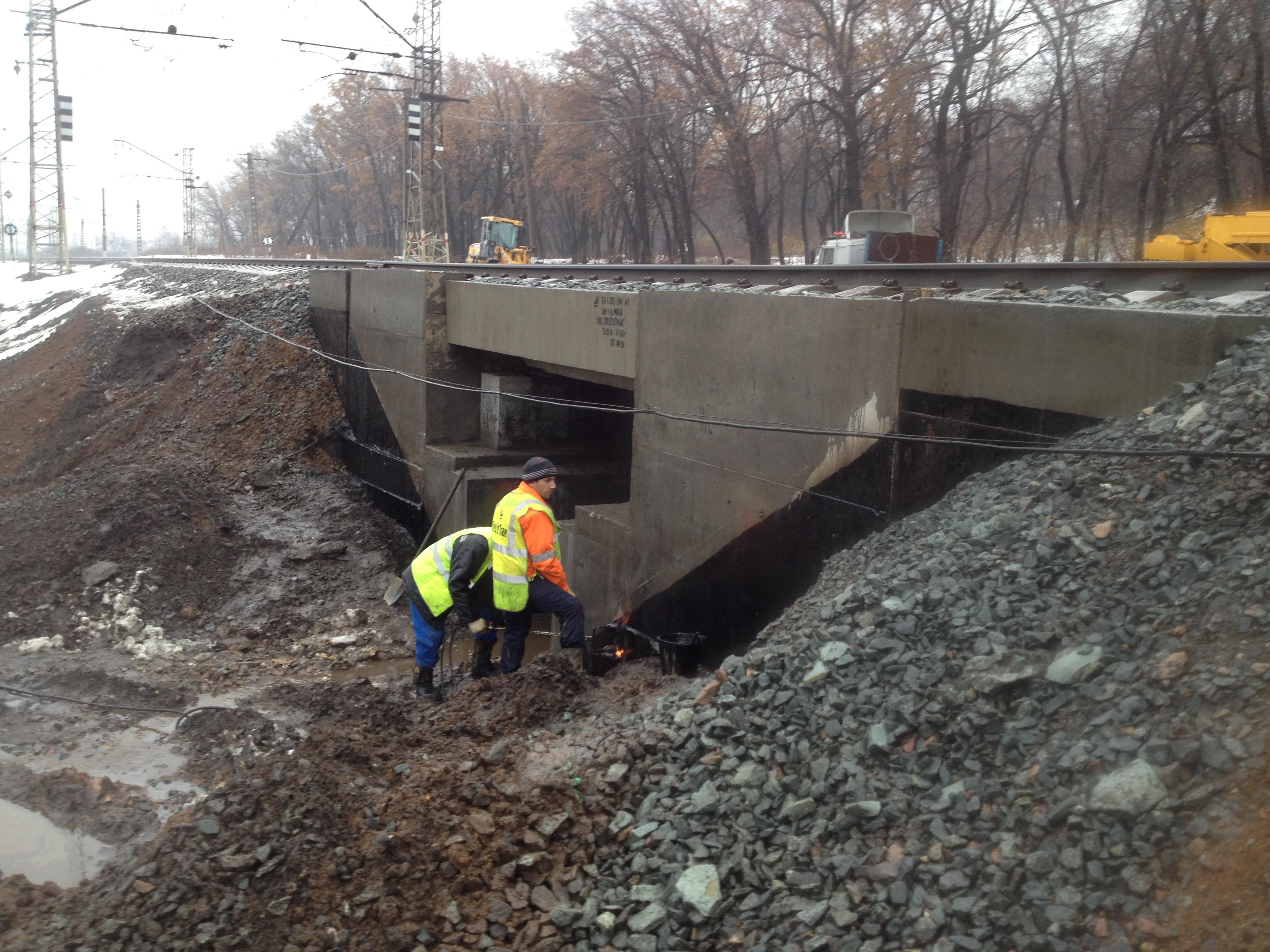 Капитальный ремонт моста на 1081 км