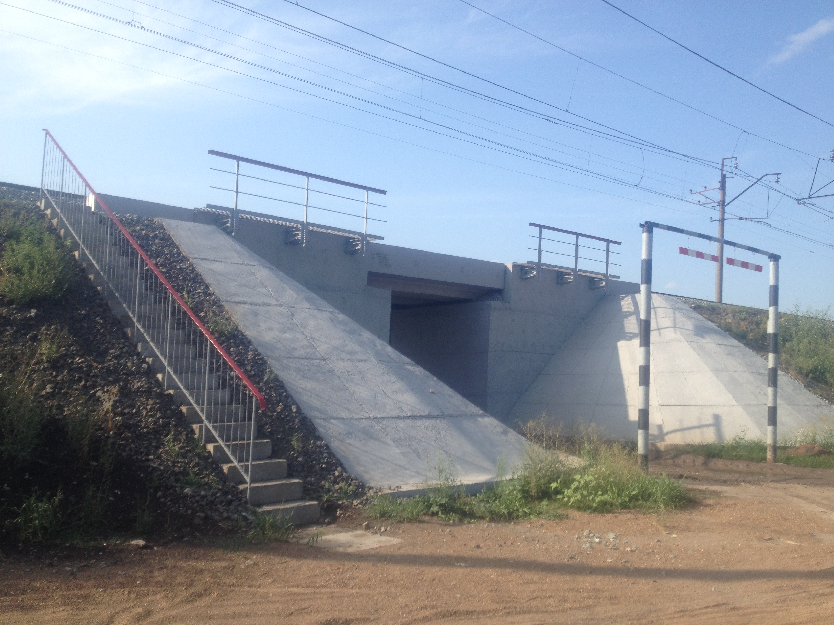 Капитальный ремонт моста на 1420 км