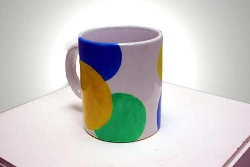 Ceramic Mug with Circular Pattern