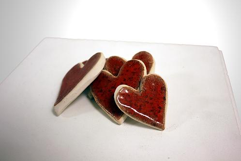 Ceramic Heart Pieces