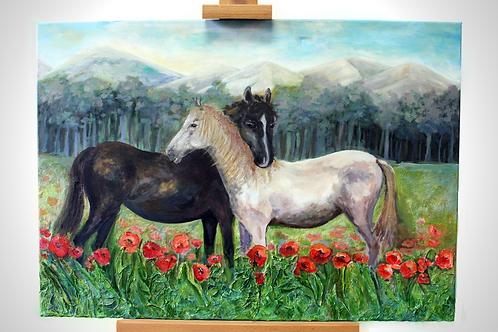 'Horses' - Acrylic