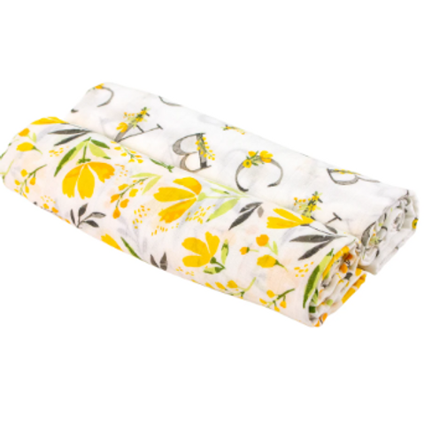 Two-in-One Swaddle Blanket | Royal Garden & Floral