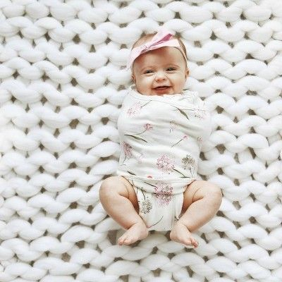 Floral Swaddle1