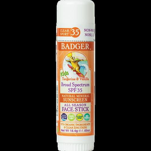 Clear Sunscreen Kids' Face Stick