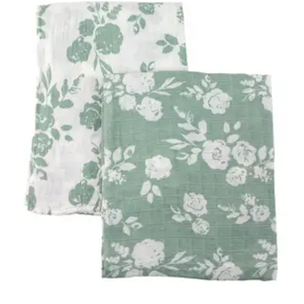 Two-in-One Swaddle Blanket | Vintage & Modern Floral