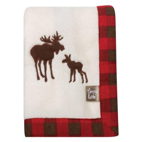 Red Plaid Moose Blanket