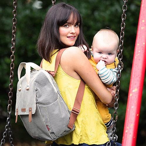 "The ""Robyn"" Babymel Diaper Bag Backpack | Navy Stripe"