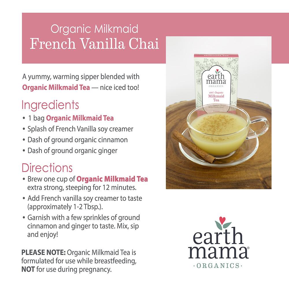 tea time with earth mama organics  organic milkmaid
