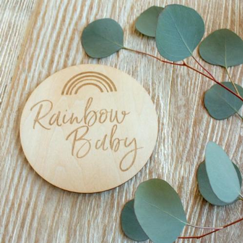 Milestone Disc - Rainbow Baby
