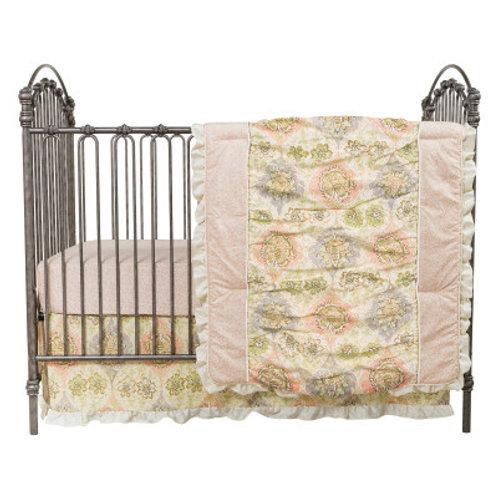 3-Piece Crib Set -Rosewater Glam