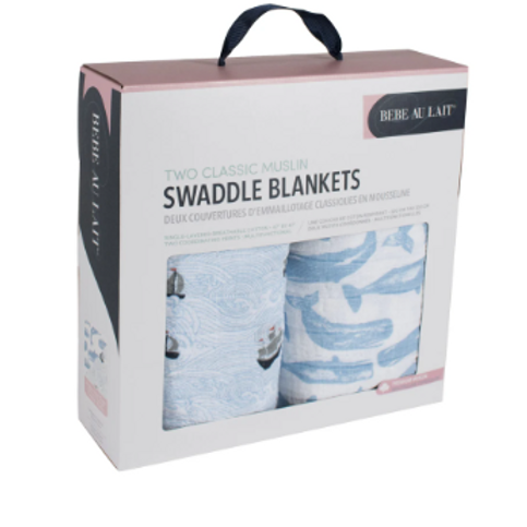 Two-in-One Swaddle Blanket | High Seas & Moby