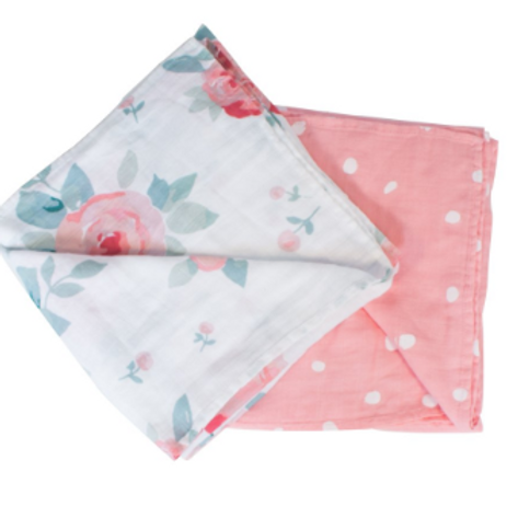 Two-in-One Swaddle Blanket | Rosy & Dewdrops