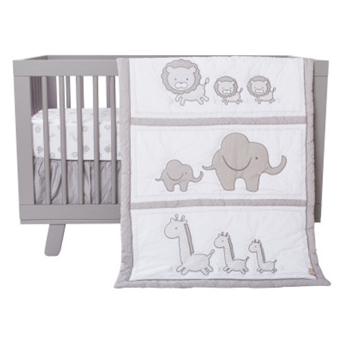 3-Piece Crib Set - Safari Chevron