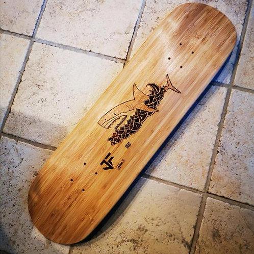 """Deck JF Skateboards 8,25"""" street hand-made Swiss shape"""